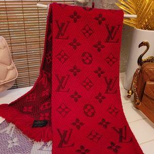 Louis Vuitton Scarf logo mania Red